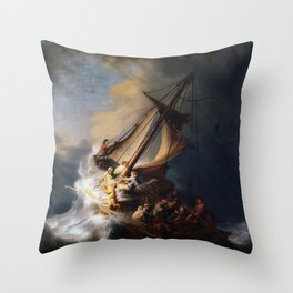 The Storm on the Sea of Galilee, Rembrandt Throw Pillow