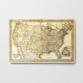 1867 USA Map Metal Print
