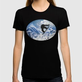 Snowboarder In Flight T-shirt