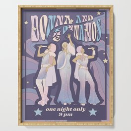 Donna and the Dynamos 70s Concert Poster Serving Tray