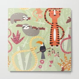Rain forest animals 004 Metal Print