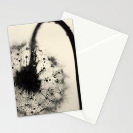 dandelion black Stationery Cards