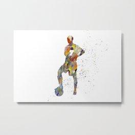 Soccer player in watercolor-18 Metal Print