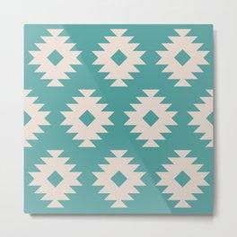 Southwestern Pattern 550 Metal Print