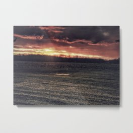 Apocalyptic Ohio sunset Metal Print