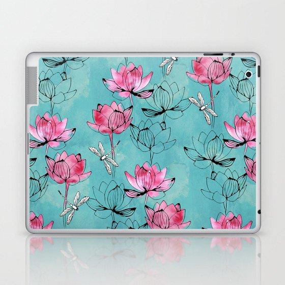 Waterlily dragonfly Laptop & iPad Skin