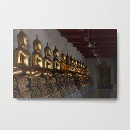Buddha in a Row Metal Print