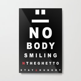 Nobody Smiling 20/20 Vision - Peppermint Metal Print