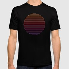 Linear Light Black LARGE Mens Fitted Tee
