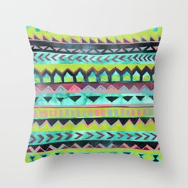 PATTERN {Tribal Stripe - Green} Throw Pillow