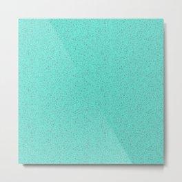 Turquoise rubber flooring Metal Print