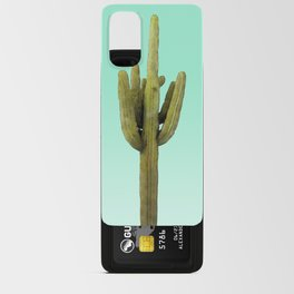 Cactus on Cyan Wall Android Card Case
