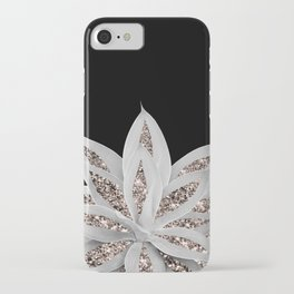 Gray Agave with Rose Gold Glitter #2 #shiny #tropical #decor #art #society6 iPhone Case