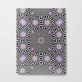 Candy & Mint Pattern No.3 Metal Print