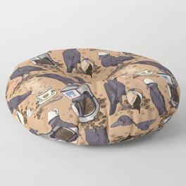 Corvids & Coffee Floor Pillow