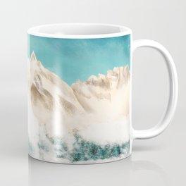 Watercolor Illustration of Meili Snow Mountain Kawagebo Peak among the clouds Coffee Mug