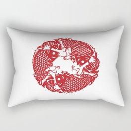 Chinese culture - Nian nian you yu. Rectangular Pillow