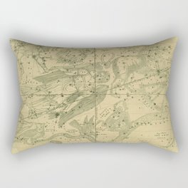 Antique Celestial Map June May April Rectangular Pillow