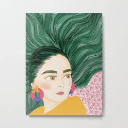 Fantasy hair Metal Print