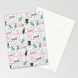 Cat Pattern | Kitty Kitten Pet Feline Gift Stationery Cards