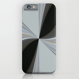 Brown and Grey Tones of Eucalyptus Swirl Pattern iPhone Case