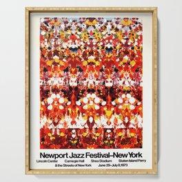 Vintage 1973 Newport Jazz Festival Poster Serving Tray