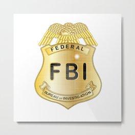 FBI Badge Metal Print
