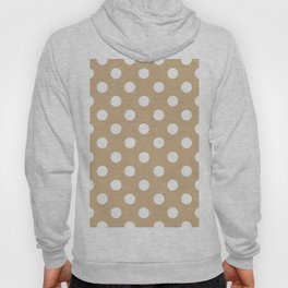 POLKA DOT (WHITE & TAN) Hoody