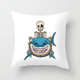 Know Someone That Is A Shark Fan? Here's A Shark Shirt Sea Creatures Oceanic Sea Attack Dangerous Throw Pillow