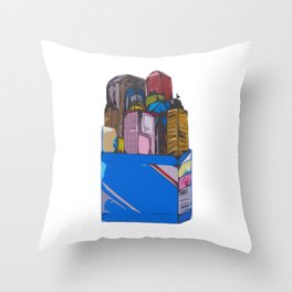 Addicted to the City Throw Pillow