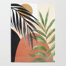 Abstract Tropical Art VI Poster