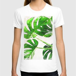 Green Leaf Monstera Plant - For plant lovers. T-shirt
