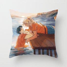 at the shore Throw Pillow