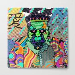 Frank Psychedelic Metal Print