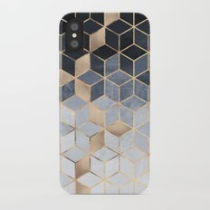 Soft Blue Gradient Cubes iPhone X Slim Case