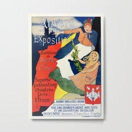 Antwerp art expo 1895 Metal Print