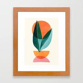 Nature Stack II / Abstract Shapes Illustration Framed Art Print