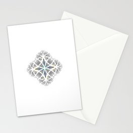 Eye of Divine Grace Minimal Meditation Mandala Print Stationery Cards