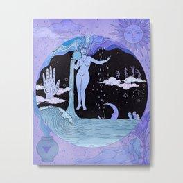 THE WATER MAGICIAN Metal Print