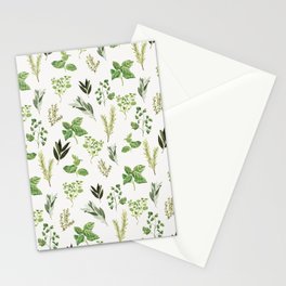 Delicate Herb Illustrations Stationery Cards