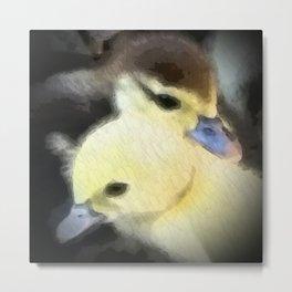 Duckiling Siblings Metal Print