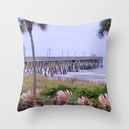 The Last Day Of The Surfside Pier Throw Pillow