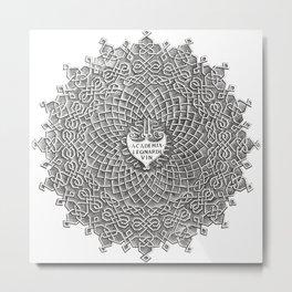 Da Vinci Labyrinth Metal Print