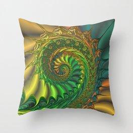 Dragon's Lair - Fractal Art Throw Pillow