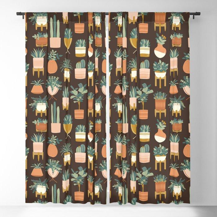 Cacti & Succulents Blackout Curtain