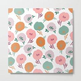 Happy Flowers Metal Print