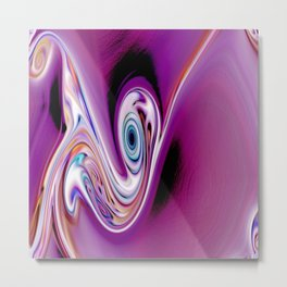 Waves and swirls, abstract, decorative patterns, colorful piece no 19 Metal Print