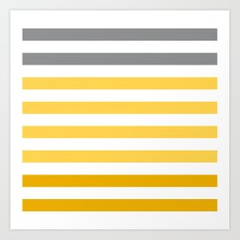 Stripes Gradient - Yellow Art Print