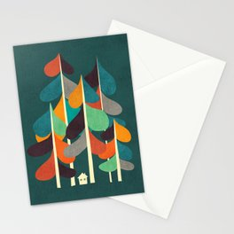 Cabin in the woods Stationery Cards