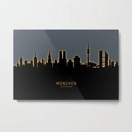 Munich Germany Skyline Metal Print